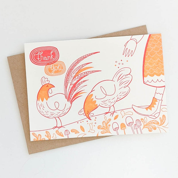 Thank You Chickens Note Card