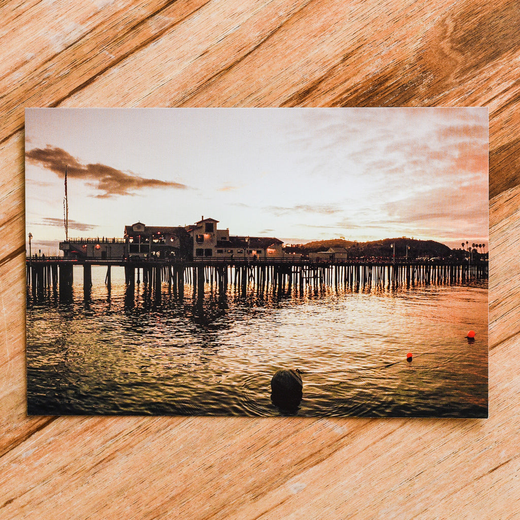 Stearn's Wharf Postcard Postcards - Lumino Press, The Santa Barbara Company