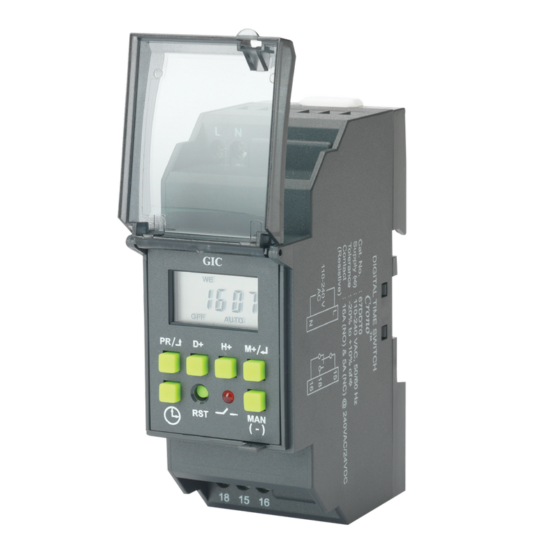 GIC Digital Time Switch, Crono, 110V-220V AC, 16A relay - Rubicon Partner Portal