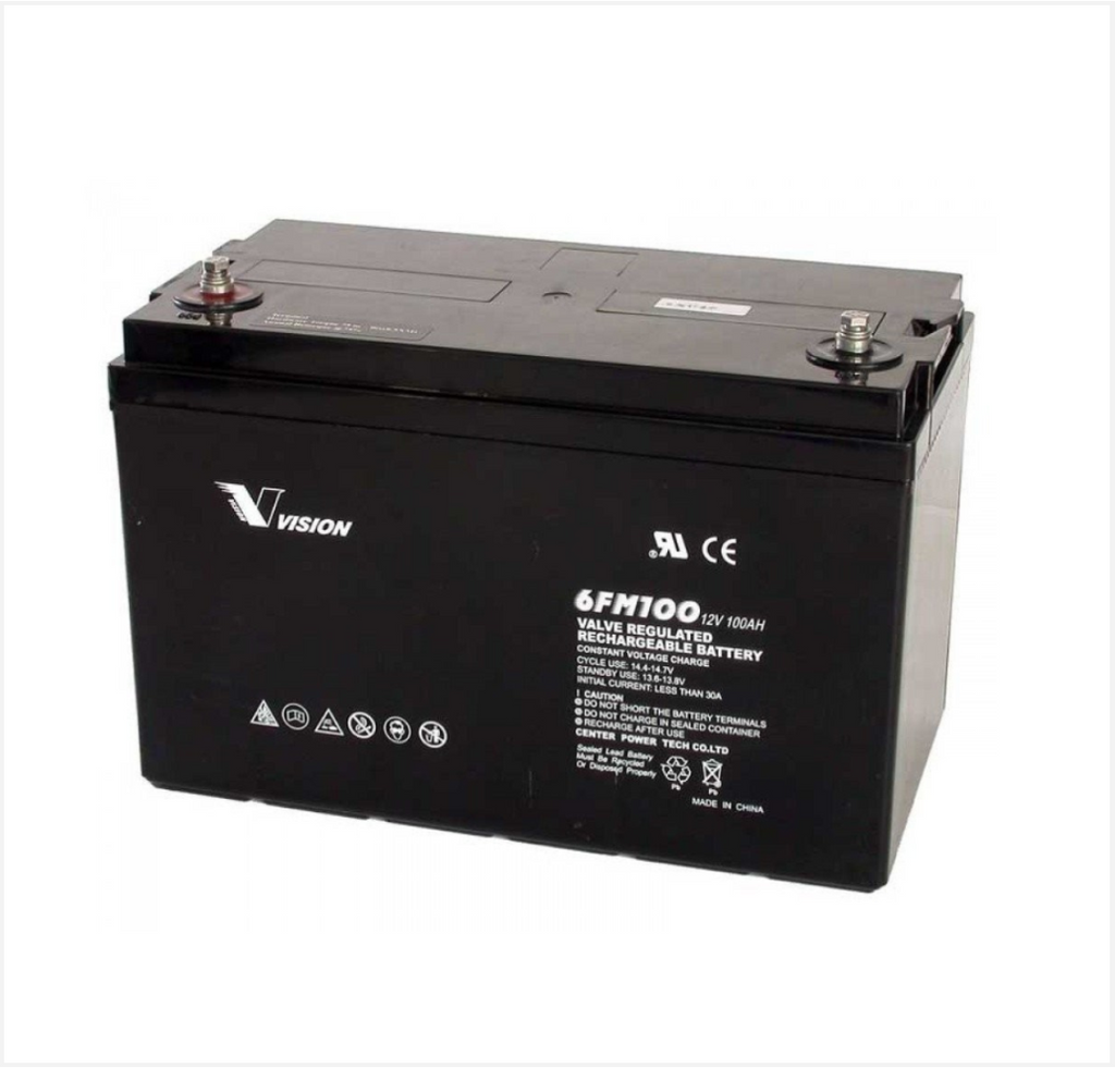 Vision 12v 100Ah Deep Cycle AGM battery - Rubicon Partner Portal