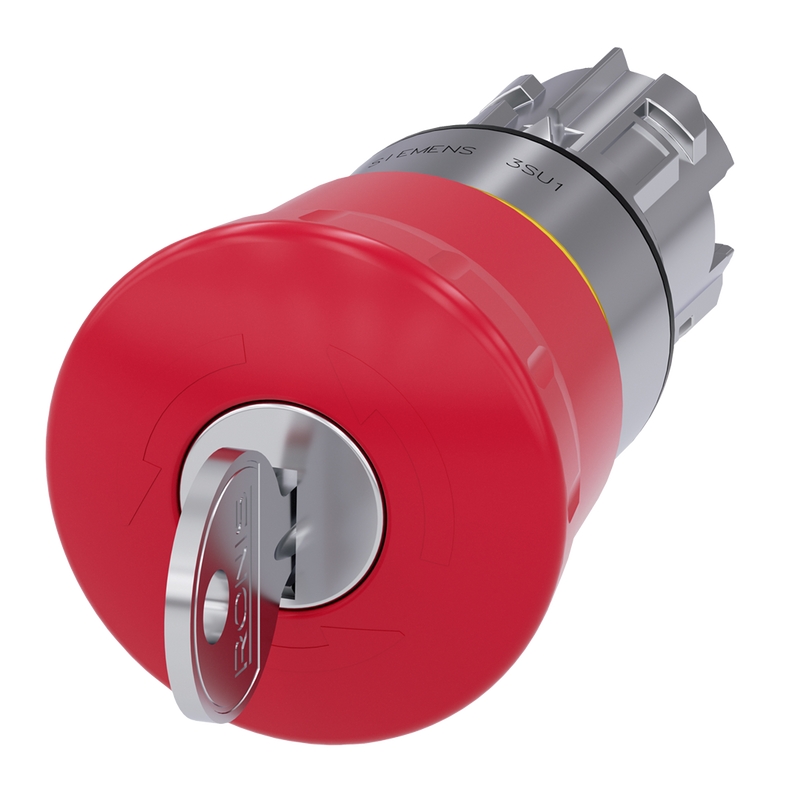Siemens EMERGENCY STOP pushbutton, Red, key-operated release - Rubicon Partner Portal