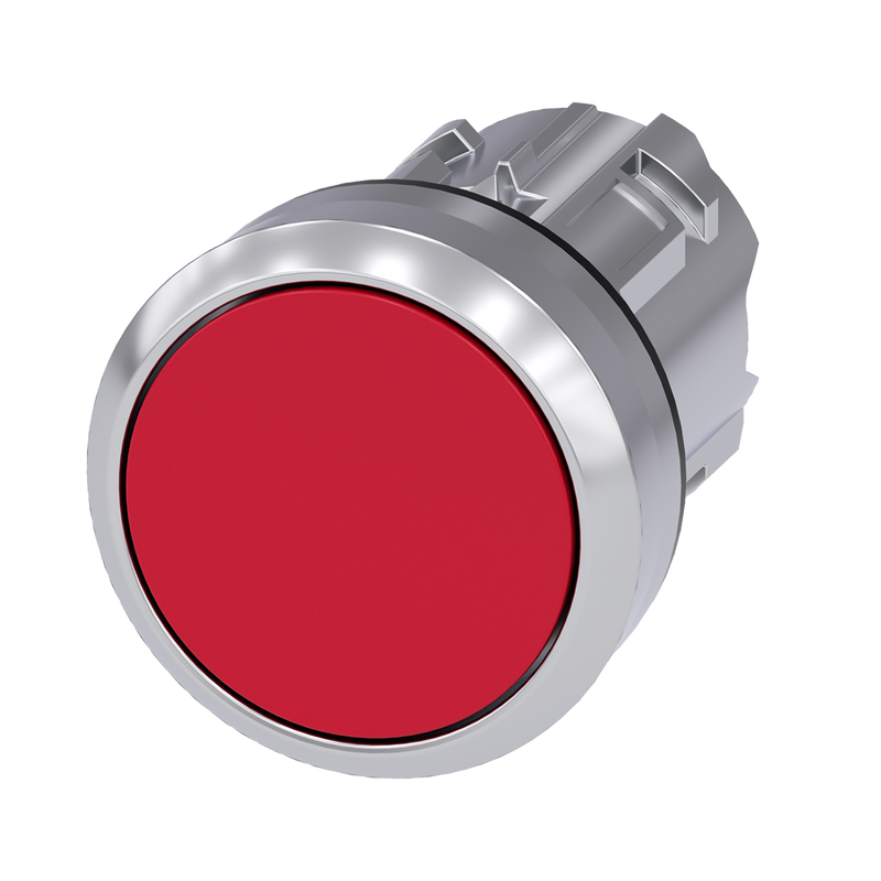 Siemens Pushbutton, 22 mm, Red, flat momentary contact type - Rubicon Partner Portal