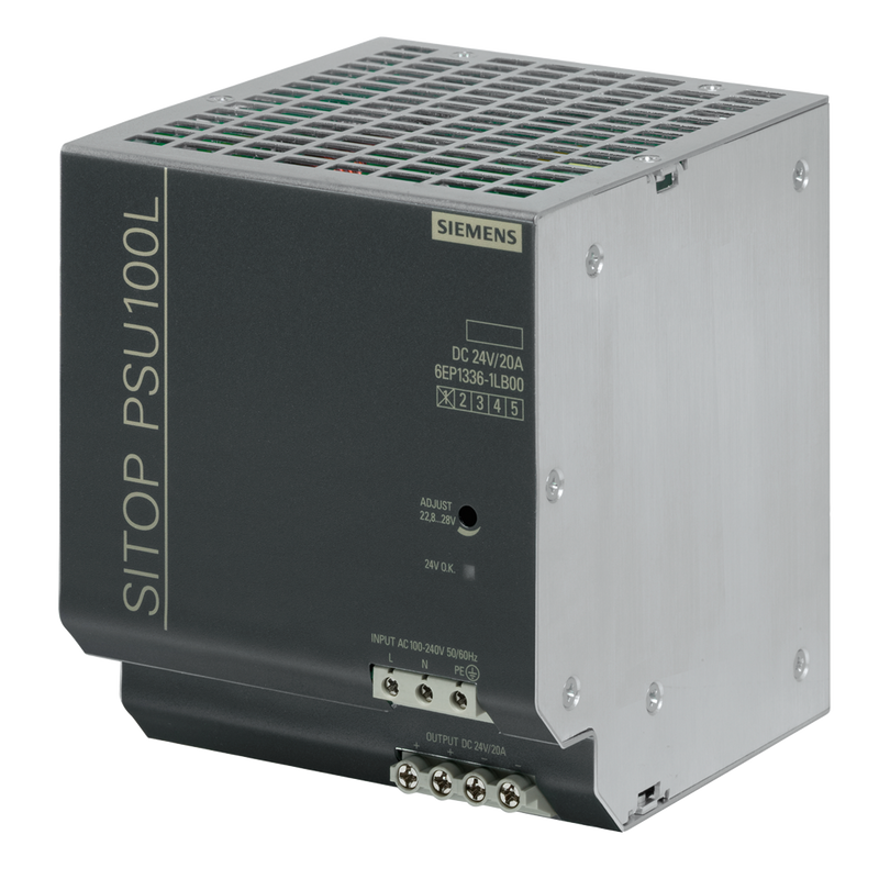 Siemens SITOP PSU100L Stabilized power supply input 24V/20A - Rubicon Partner Portal