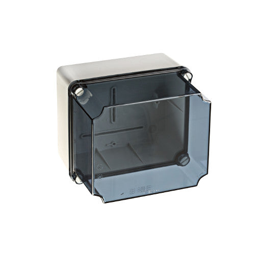 IDE Enclosure, Plastic 244x334x191mm Grey, Clear Lid IP67 - Rubicon Partner Portal