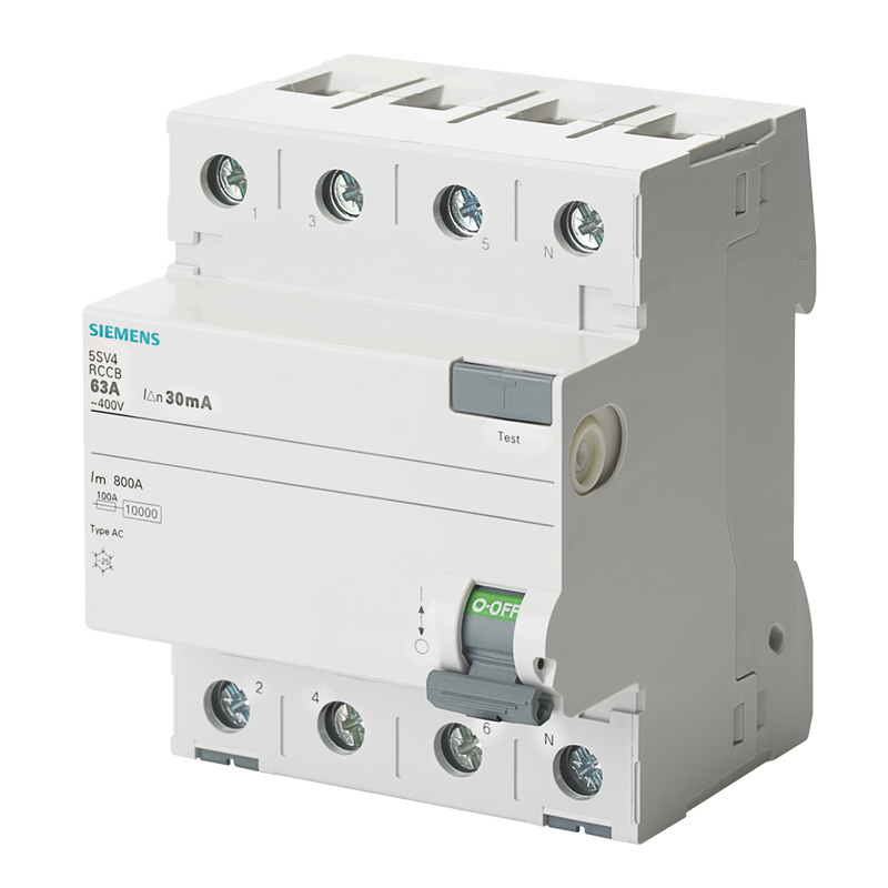 Siemens Residual current operated circuit breaker, 4-pole - Rubicon Partner Portal
