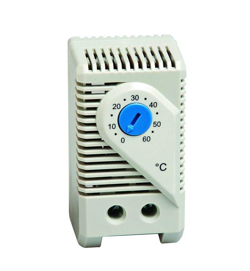 Stego thermostat, 0°C to +60°C, N/O, 10 A, 250 VAC, DIN mnt - Rubicon Partner Portal