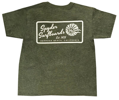 SPYDER SURFBOARDS HB LONG YOUTH TEE