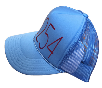 90254 TRUCKER HAT BLUE CHERRY