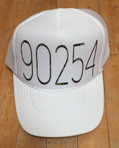 90254 TRUCKER HAT WHITE CAMO
