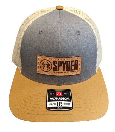 SPYDER CORP LEATHER PATCH TRUCKER HAT