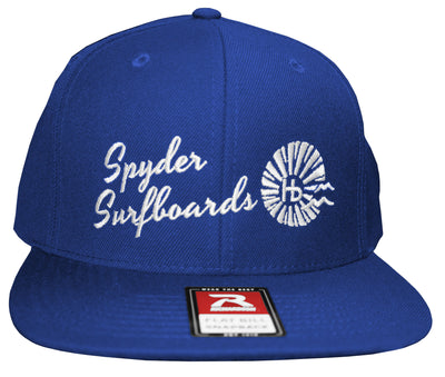 Spyder Surfboards Hb Sun Script Hat Royal Blue