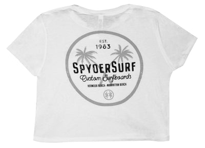 SPYDER SURFBOARDS XPALM WMN CROP T