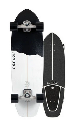 "Carver 32.5"" Black Tip Surfskate Complete CX"