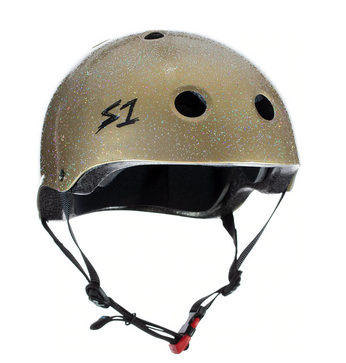 S1 Mini Lifer Helmet Gold Gloss Glitter - Spyder Surf
