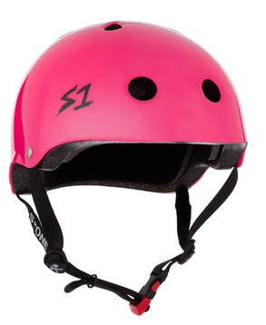 S1 Mini Lifer Helmet Hot Pink Gloss - Spyder Surf