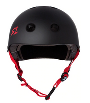 S1 Lifer Helmet Black Matte Red Straps