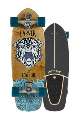 "Carver 29.5"" Conlogue Sea Tiger Surfskate Complete C7 Raw"
