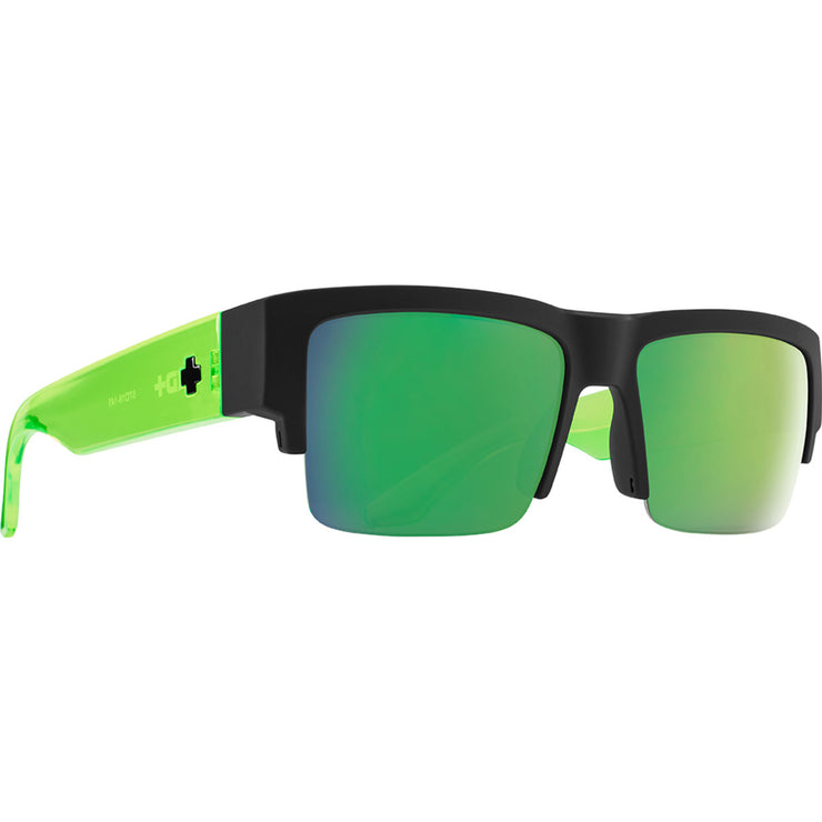 Cyrus 5050 Soft Matte Black Translucent Green - HD Plus Gray Green with Green Spectra Mirror
