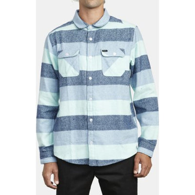 SHALLOWS STRIPE FLANNEL LONG SLEEVE SHIRT