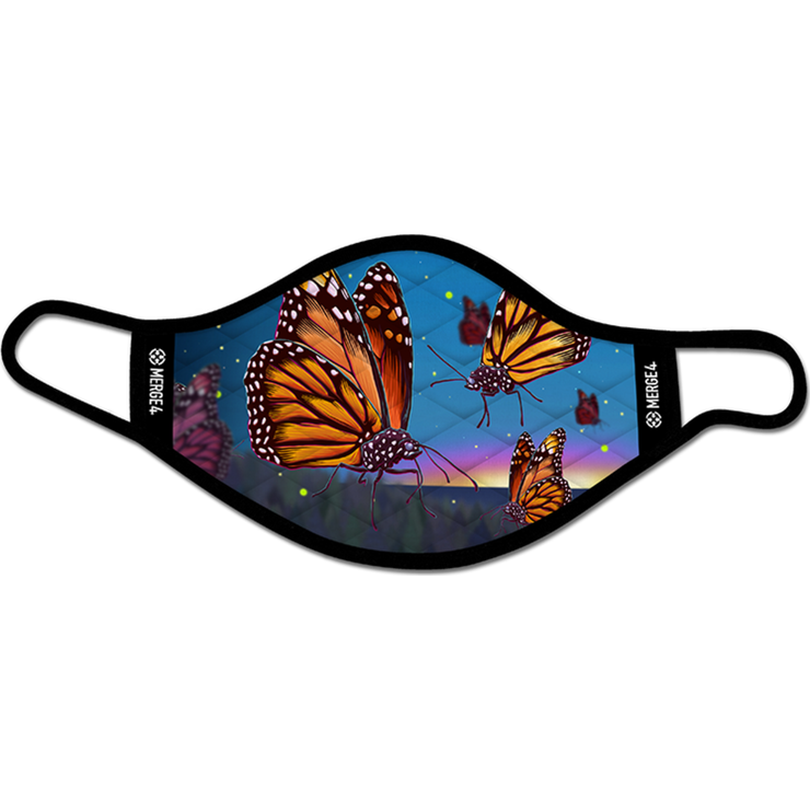 Slogan Butterflies Mask