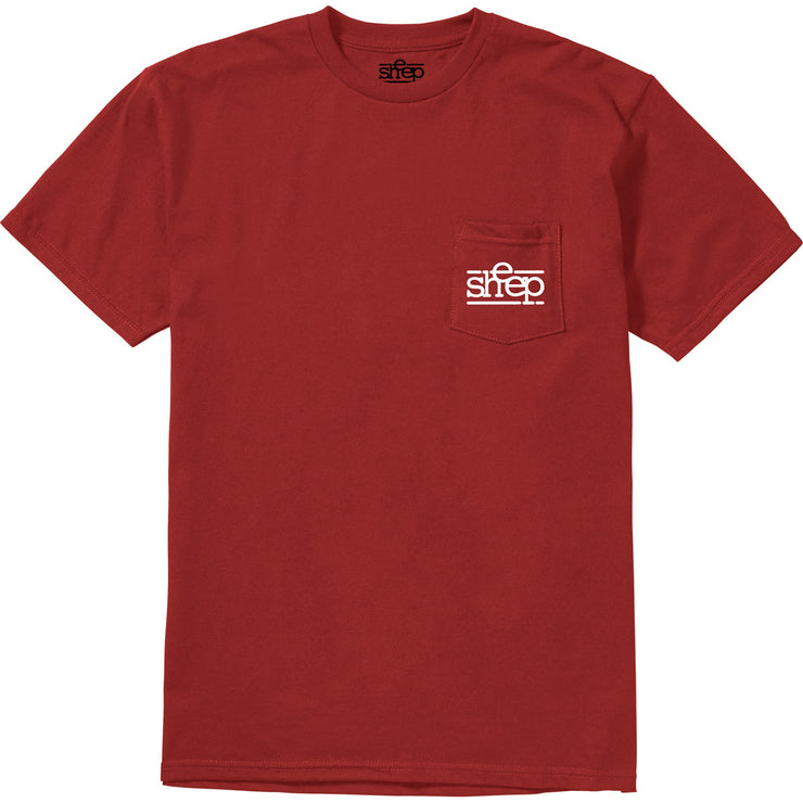 SHEEP POCKET T RED