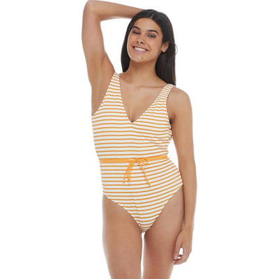 French Riviera Pam Belted One-Piece Swimsuit - Sundream
