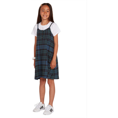 BIG GIRLS GETTING RAD PLAID DRESS - EMERALD GREEN