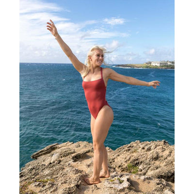 Mindful Eco-Conscious Electra One-Piece Swimsuit - Spice