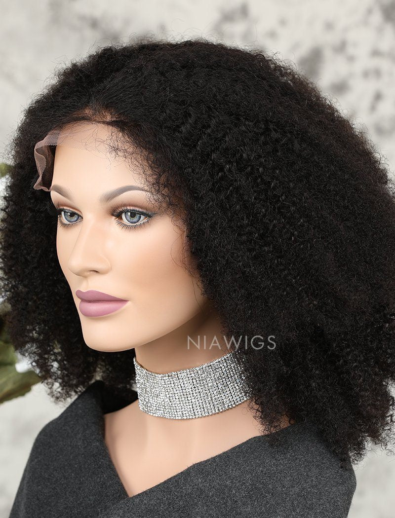 Load image into Gallery viewer, Afro Kinky Curly Human Hair Lace Front Wigs With Baby Hair