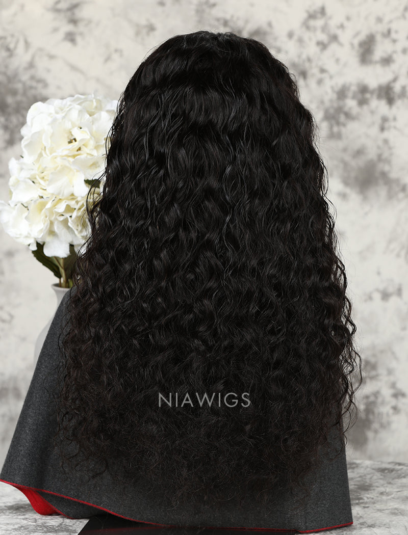 Load image into Gallery viewer, Silk Base Loose Curly Human Hair Full Stretchable Lace Wigs