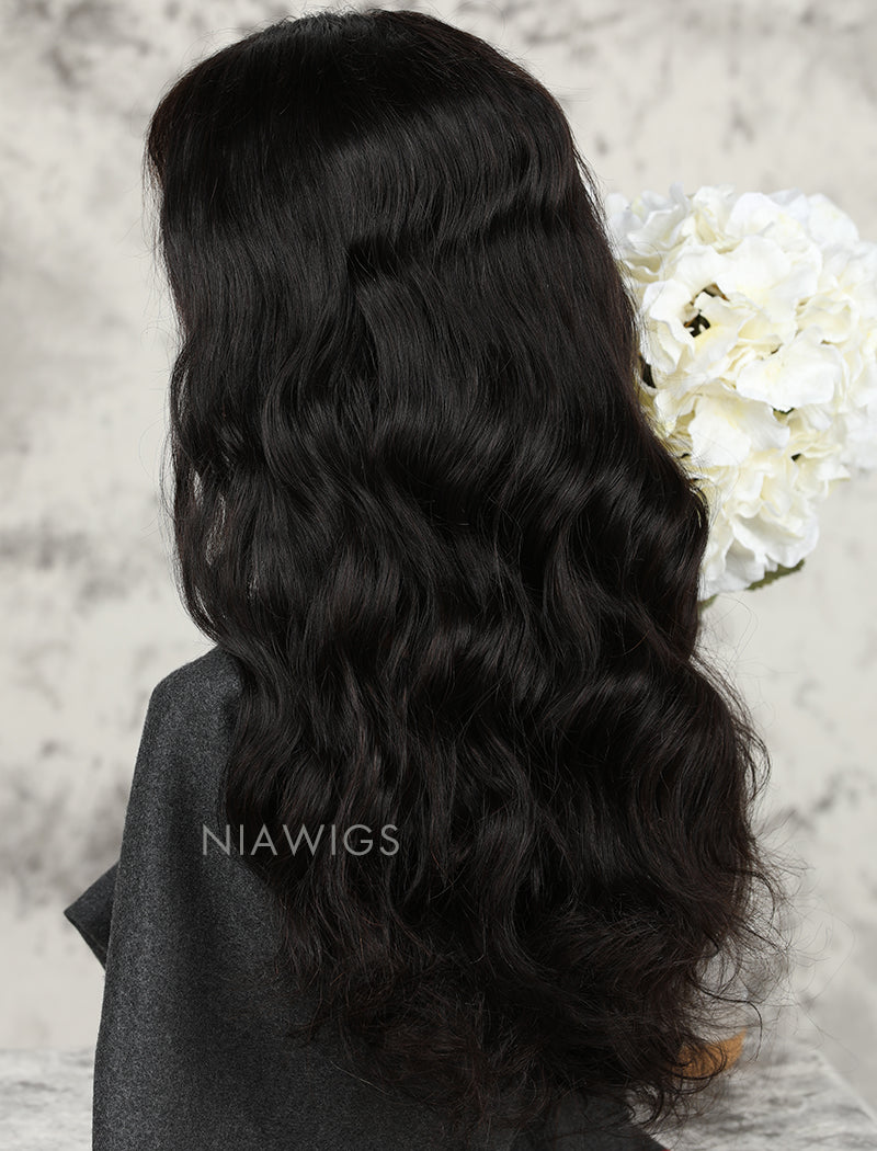 Load image into Gallery viewer, Silk Base Natural Wave Human Hair Full Stretchable Wigs