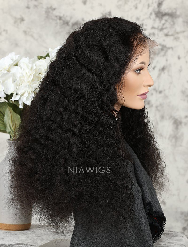 Load image into Gallery viewer, Deep Wave Human Hair Full Lace Wigs With Baby Hair