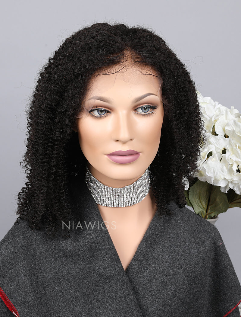 Load image into Gallery viewer, Silk Base Kinky Curly Human Hair Full Stretchable Wigs With Baby Hair