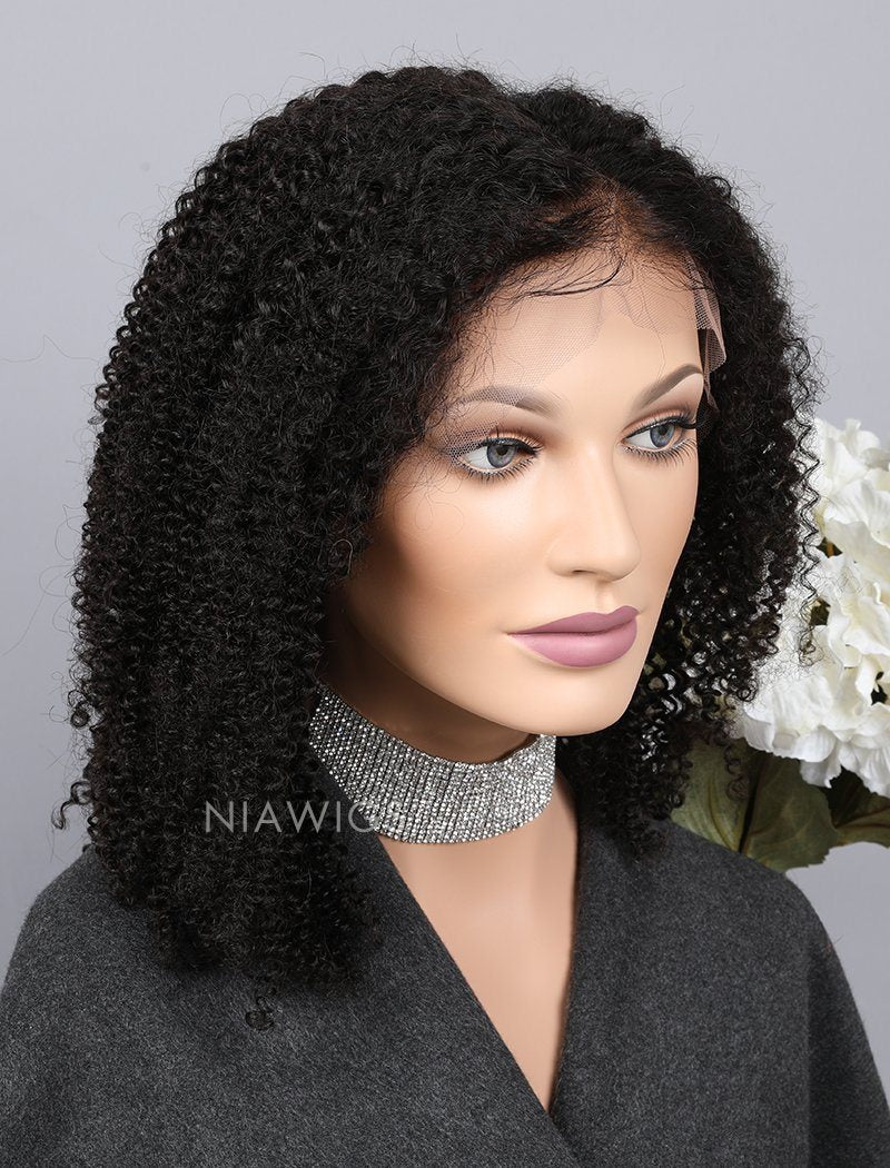 Load image into Gallery viewer, Kinky Curly Human Hair Lace Front Wigs With Baby Hair