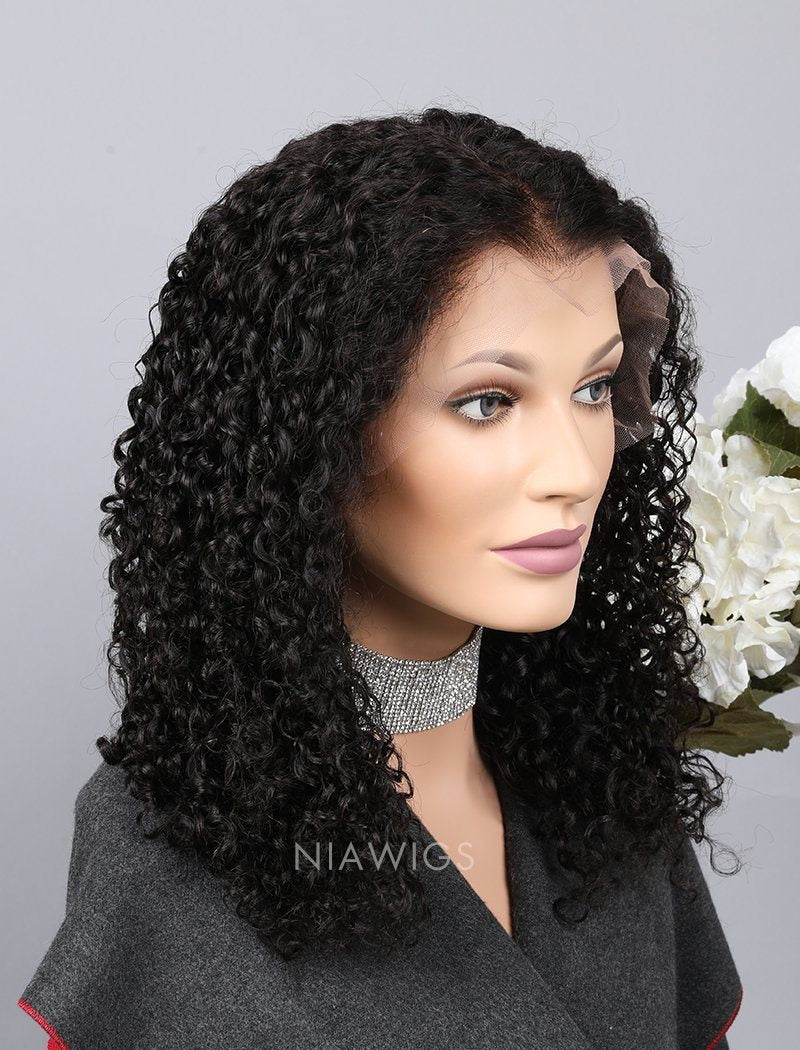 Load image into Gallery viewer, Silk Base Curly Human Hair Full Stretchable Wigs With Baby Hair