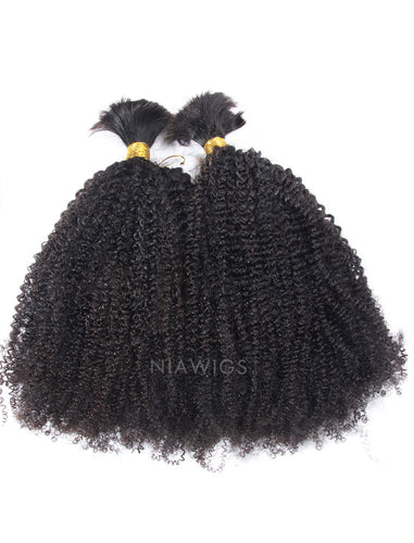 Bulk Human Hair for Braiding Afro Kinky Curls Brazilian Hair