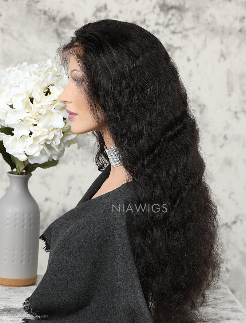 Load image into Gallery viewer, Silk Base Water Wave Human Hair Lace Front Wigs