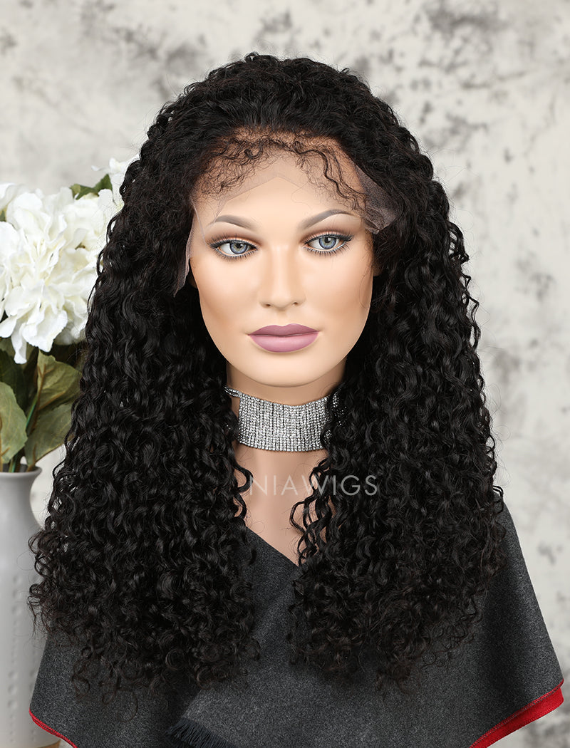 Load image into Gallery viewer, Silk Base 2020 Best Selling Curly Human Hair Lace Front Wigs