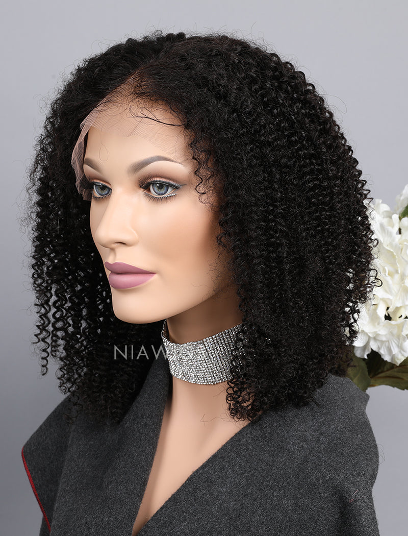 Load image into Gallery viewer, Silk Base Kinky Curly Human Hair Lace Front Wigs With Baby Hair