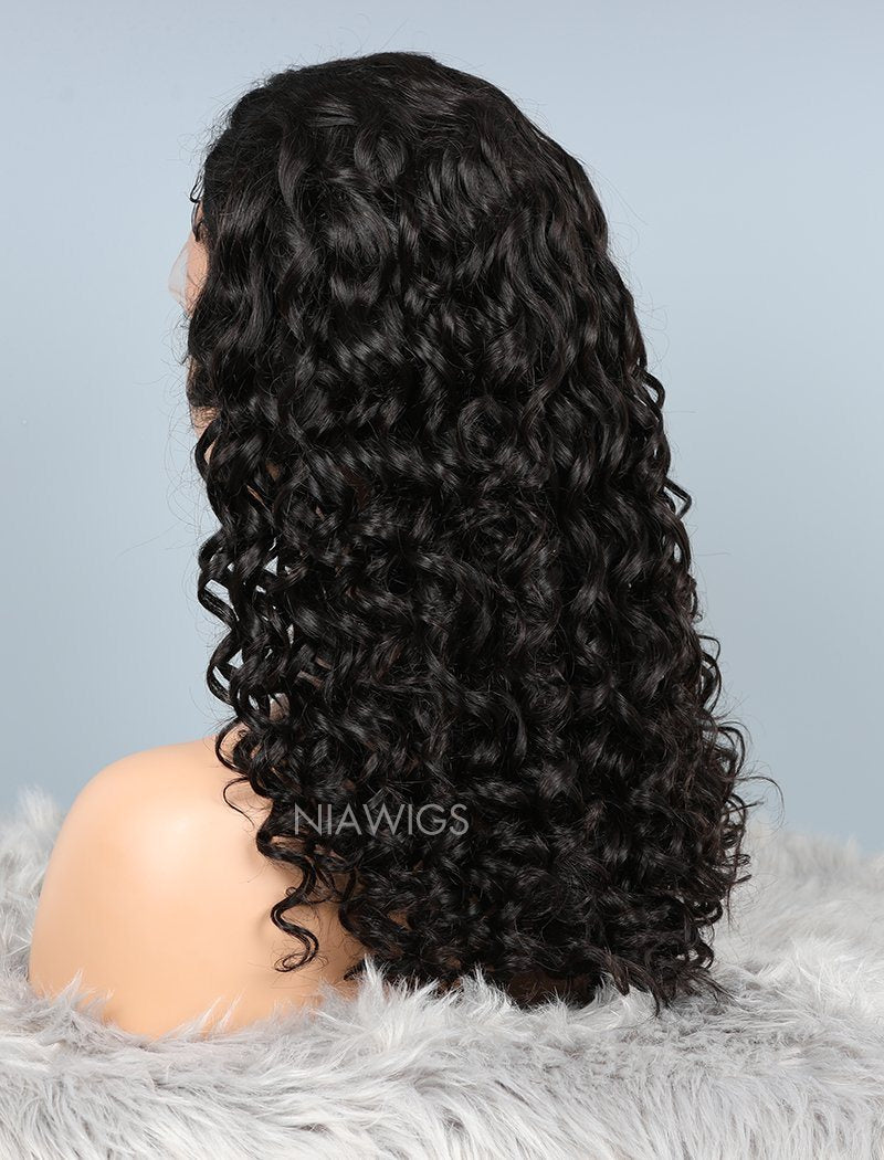 Load image into Gallery viewer, Natural Wave Glueless Full Stretchable Human Hair Wigs With Baby Hair