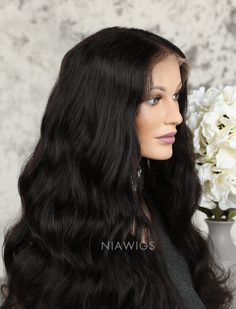 Load image into Gallery viewer, Natural Wave Human Hair Glueless Full Stretchable Wigs With Baby Hair