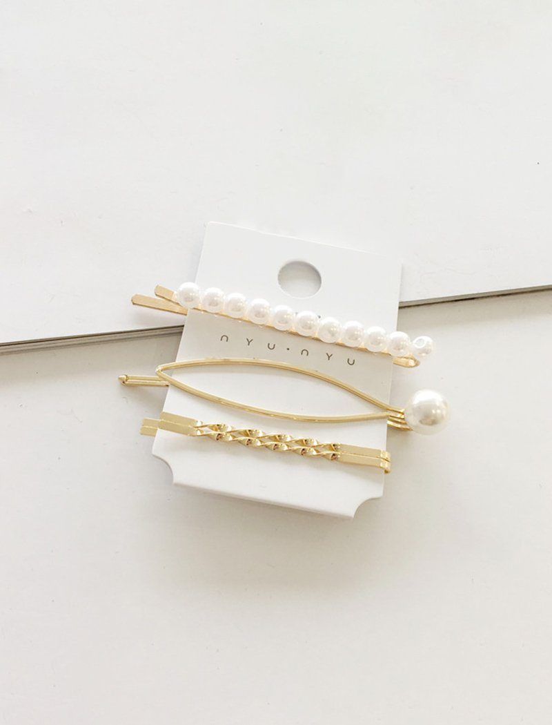 Load image into Gallery viewer, Chic Artificial Pearl Metal Hair Clips Barrettes
