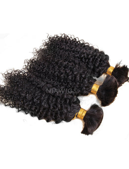 Bulk Hair Extenstion For Braiding Without Attachment Deep Curly