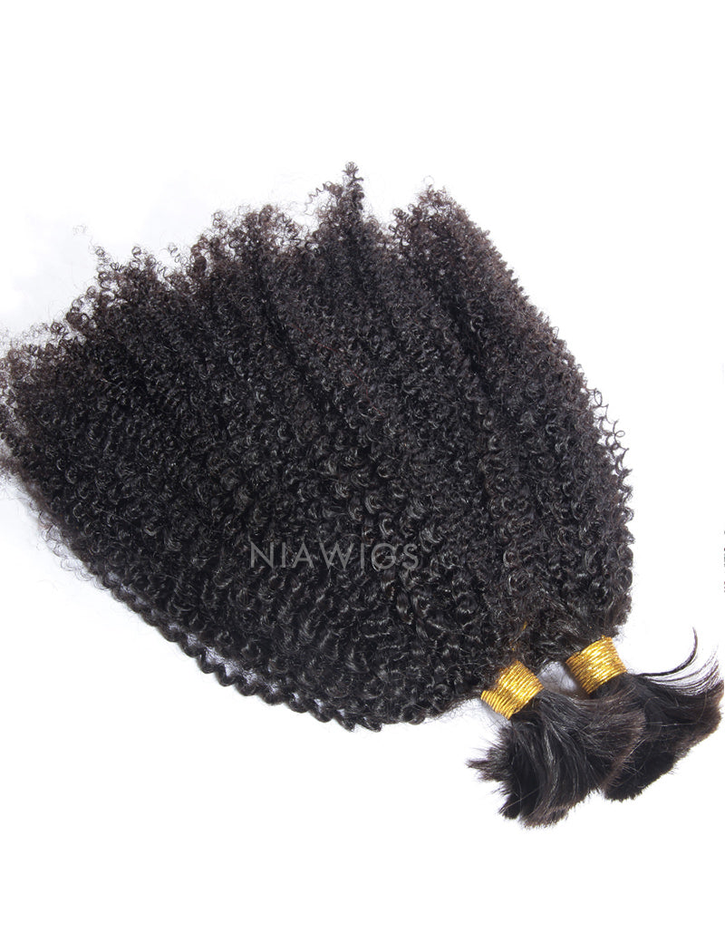 Load image into Gallery viewer, Bulk Human Hair for Braiding Afro Kinky Curls Brazilian Hair