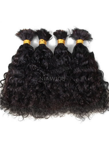 Bulk Human Hair for Braiding Natural Wavy Brazilian Hair