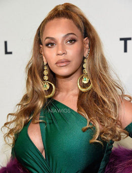 Beyonce Inspired Virgin Hair Lace Wig Balayage Celebrity Wigs