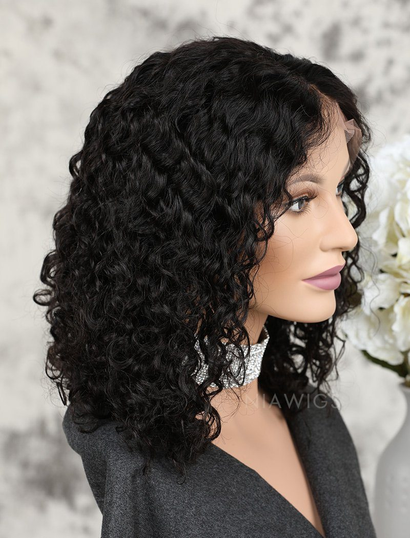 Load image into Gallery viewer, Fashion Bob Full Lace Wigs Human Hair Curly Bob Wig