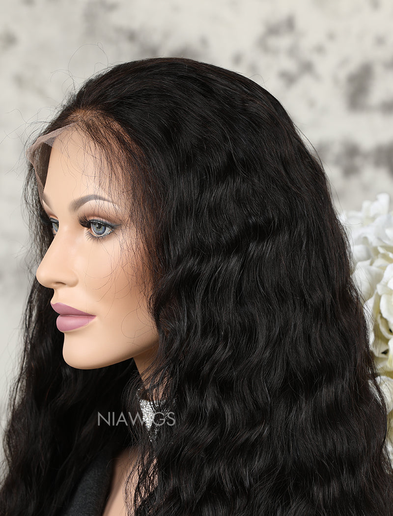 Load image into Gallery viewer, Silk Base Fashion Best Selling Natural Wavy Human Hair Full Stretchable Lace Wigs