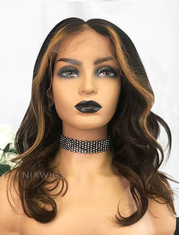 Beverly||Remy Hair 14 Inches Lace Front Wig Balayage