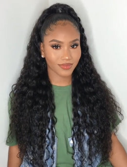 2020 Best Selling Curly Human Hair Full Lace Wigs With Baby Hair
